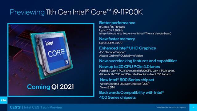 Intel Core i9-11900k Specifications