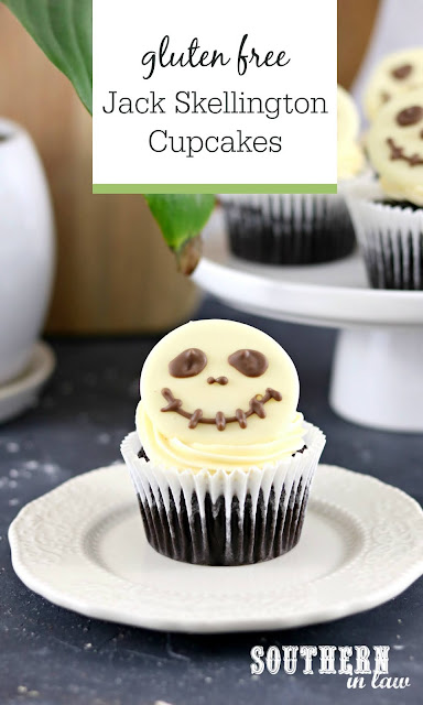 Easy Jack Skellington Cupcakes Recipe - gluten free, disney desserts, easy halloween cupcake ideas