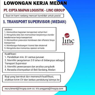Transport Supervisor di PT Cipta Mapan Logistik