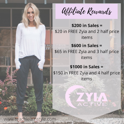 Get free and half off activewear by becoming a Zyia Active affiliate