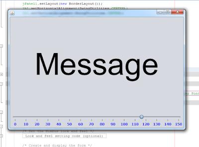 java change jabel font size using jslider