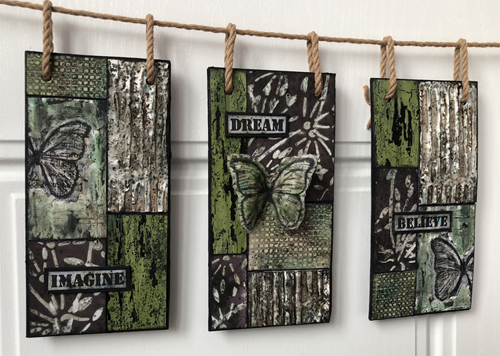 Grunge Paste and Infusions Textured Hanging - by Nikki Acton