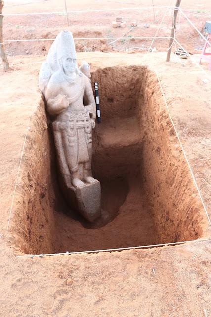 2000-χρονών δομές από τούβλα, γλυπτική Vishnu αποκαλυφθεί στο Andhra Pradesh