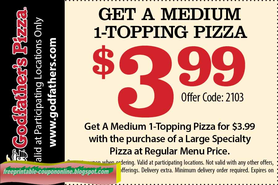Godfathers coupons