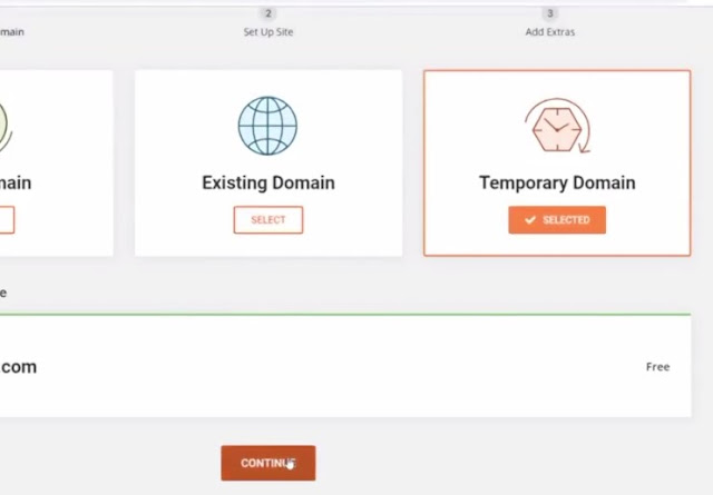 create website from your domain account
