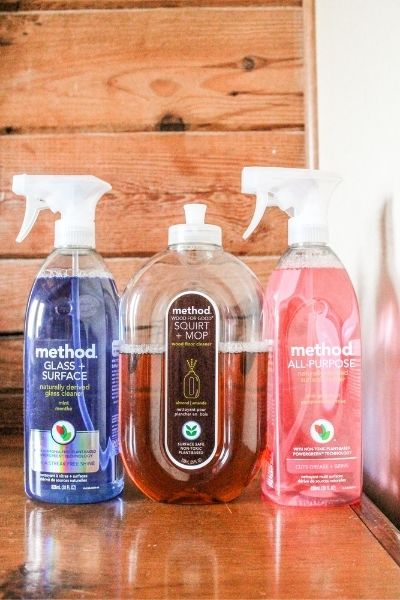A review of all natural cleaners, plant based cleaning products. Products tested are the Method brand cleaners.   On The Creek Blog // www.onthecreekblog.com