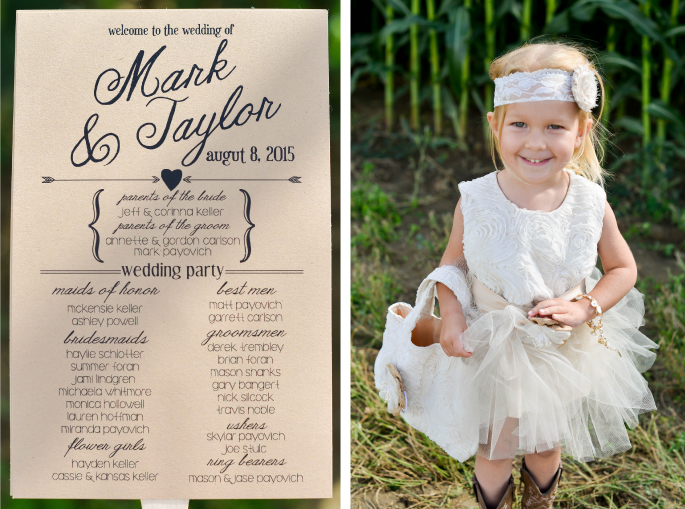 Flower Girl / Wedding Invitations / Merry Character Photography