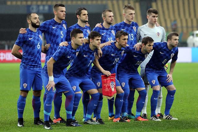 Formación de Croacia ante Chile, China Cup 2017, 11 de enero