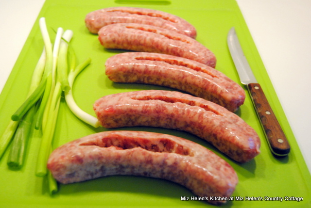 Bacon Wrapped Stuffed Brats at Miz Helen's Country Cottage