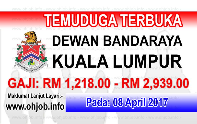 Jawatan Kerja Kosong DBKL - Dewan Bandaraya Kuala Lumpur logo www.ohjob.info april 2017
