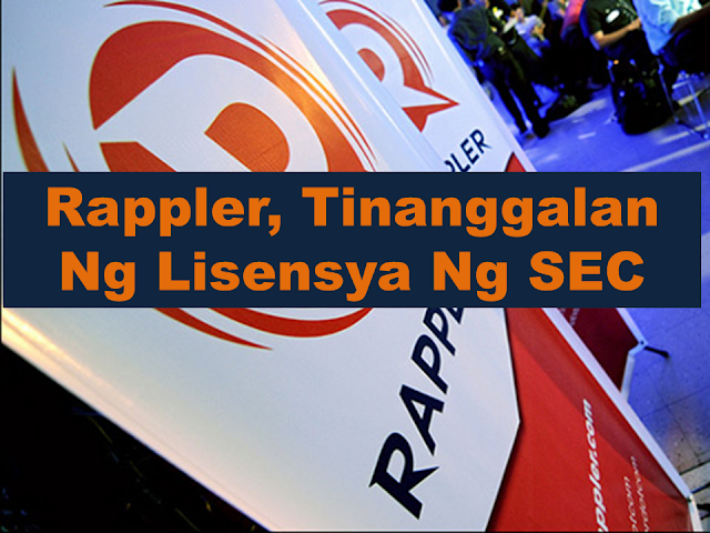 "BREAKING! The Securities and Exchange Commission (SEC) has revoked the certificate of incorporation of news website Rappler for violating the constitutional restriction on foreign ownership of mass media, according to an official document released on Monday.  Rappler ""sold control to foreigners,"" the SEC said in a resolution dated Jan. 11. The regulator said the Department of Justice will be furnished a copy of the decision for ""appropriate action.""  The news website reported the SEC decision on Monday and denied the SEC's claim that Omidyar Network, a fund created by eBay founder and entrepreneur Pierre Omidyar, controlled its operations.  ""Philippine Depositary Receipts (PDRs) do not indicate ownership. This means our foreign investors, Omidyar Network and North Base Media, do not own Rappler,"" the news outfit said.  ""They invest, but they don't own. Rappler remains 100-percent Filipino-owned,"" it said, referring to its statement issued in July 2016.  Rappler issued a statement after the decision was released, calling on the public to ""defend press freedom."" Sponsored Links  President Rodrigo Duterte claimed at the time that Rappler was ""fully owned"" by Americans, as he warned the company that it violated the 1987 Constitution.  SEC accused Rappler of violating constitutional restrictions on ownership and control of mass media entities because of funds coming from foreigners.  The media outlet is ""liable for violating the constitutional and statutory Foreign Equity Restrictions in Mass Media , enforceable through laws and rules within the mandate of the Constitution,"" the SEC said.  The SEC also declared the Philippine Depositary Receipts (PDRs) of Rappler as void ""for being a fraudulent transaction.""  Rappler late last year launched a fund drive, asking supporters to help them ""stay free and independent of political pressure and commercial interests.""  The campaign has collected P1.175 million in nearly 4 months.  Source: ABS-CBN Read More:  Did You Apply for OFW ID and Did You Receive This Email?    Jobs Abroad Bound For Korea For As Much As P60k Salary    Command Center For OFWs To Be Established Soon   ©2018 THOUGHTSKOTO  www.jbsolis.com   SEARCH JBSOLIS, TYPE KEYWORDS and TITLE OF ARTICLE at the box below"