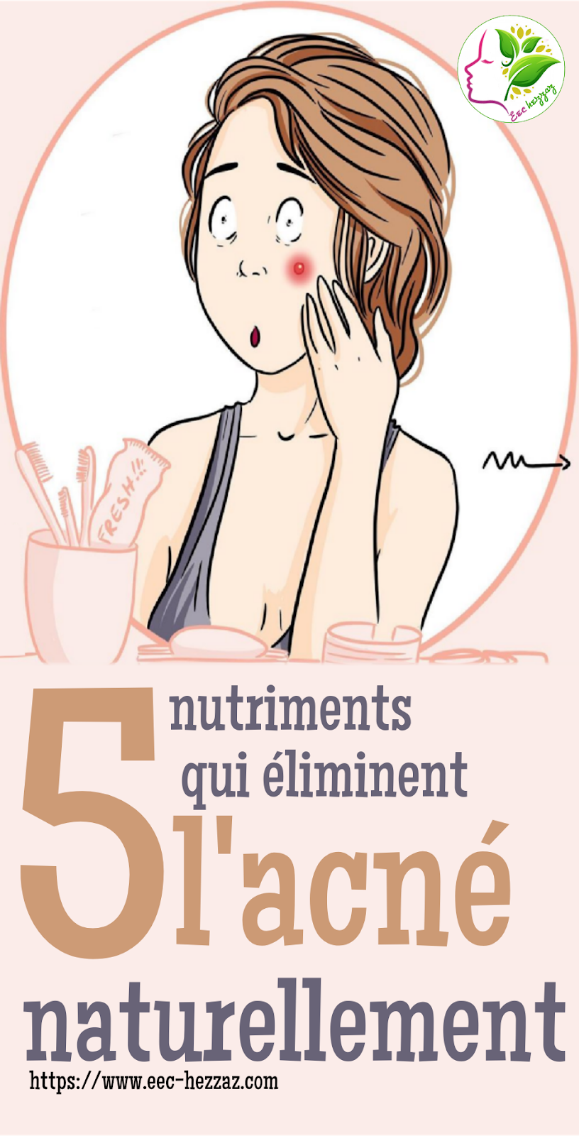 5 nutriments qui éliminent l'acné naturellement
