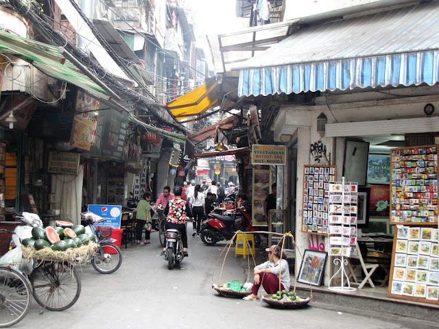 street old quarter hanoi vietnam
