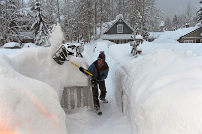 Over 2.5 meters of snow have been dumped on Crested Butte