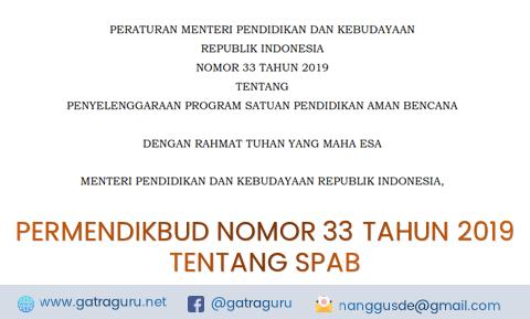 Permendikbud Nomor 33 Tahun 2019