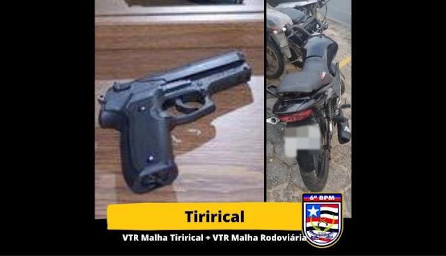 POLICIAIS DO 6º BPM PRENDEM DUPLA QUE HAVIAM ROUBADO MOTOCICLETA NO TIRIRICAL