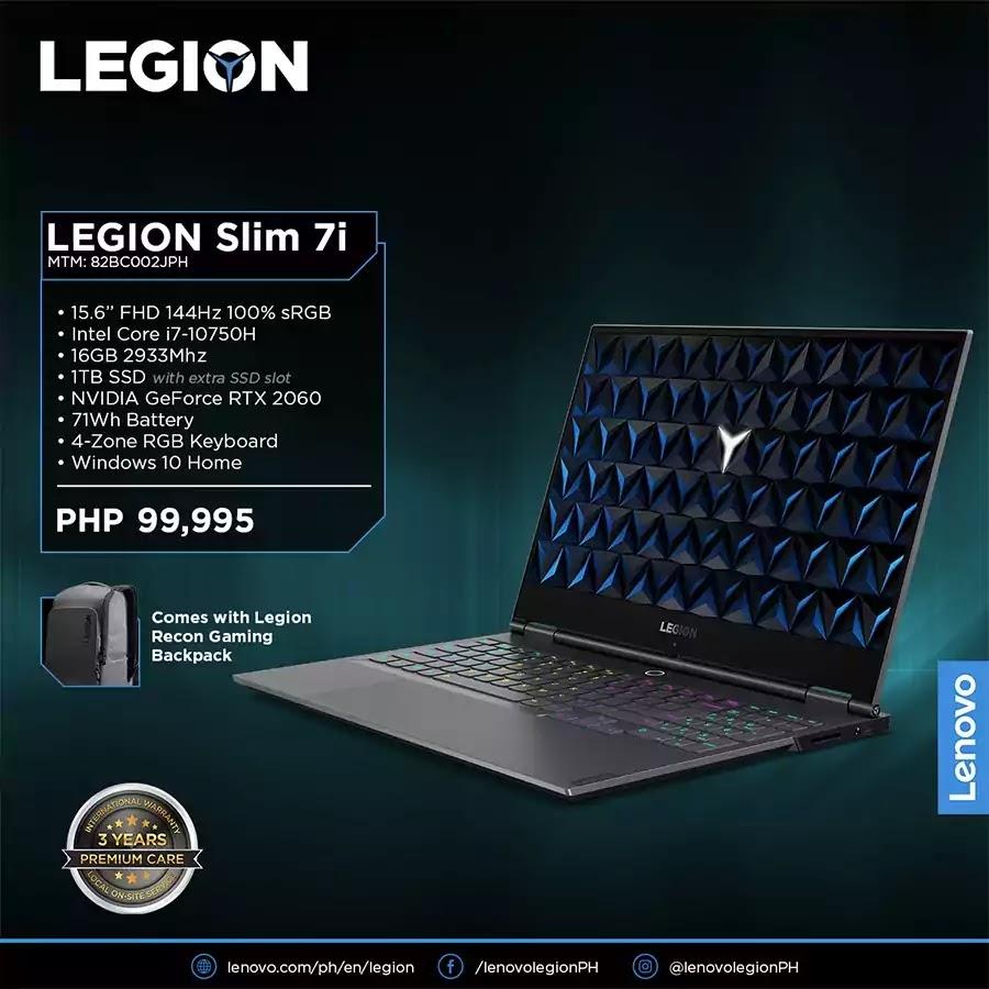 Lenovo Legion Slim 7i Price and Specs