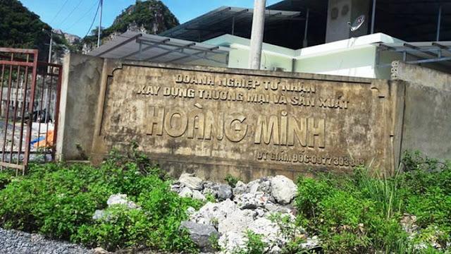 Doanh nghiệp tư nhân Hoàng Minh do người thân của ông Thái làm chủ