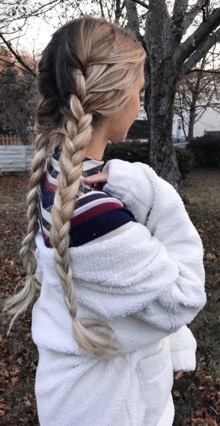 gorgeous braid hairstyle idea for this fall