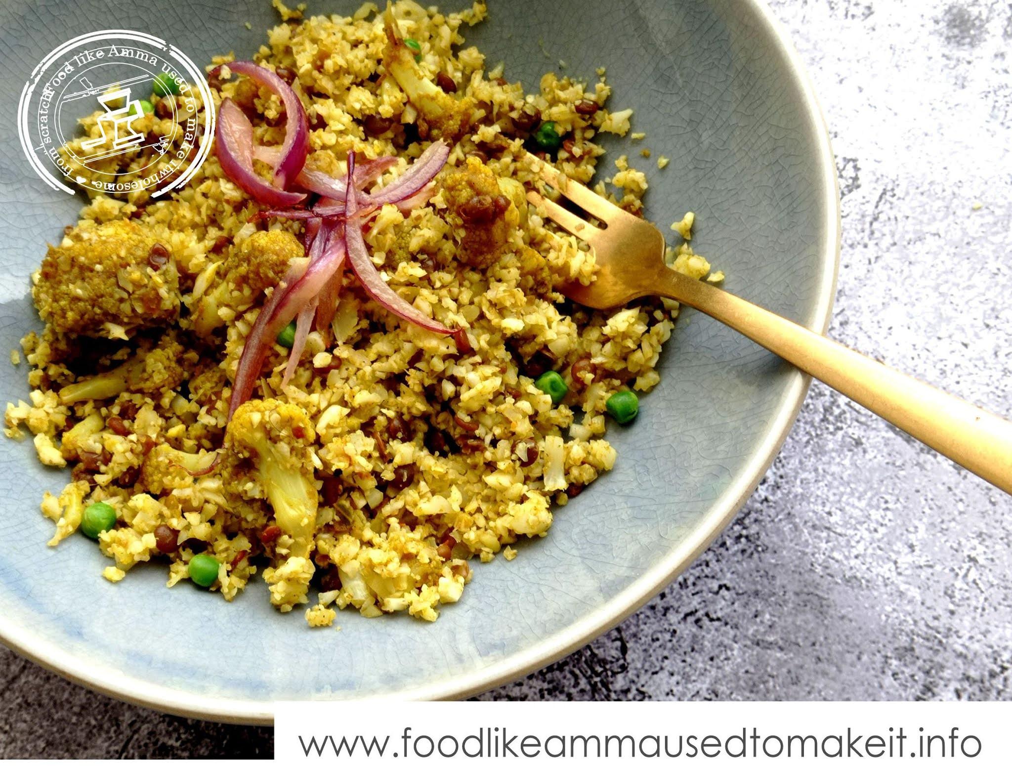 Cauli Rice Biryani Recipe