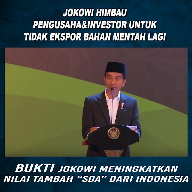 Jokowi Himbau Pengusaha & Investor Untuk Tidak Ekspor Bahan Mentah Lagi