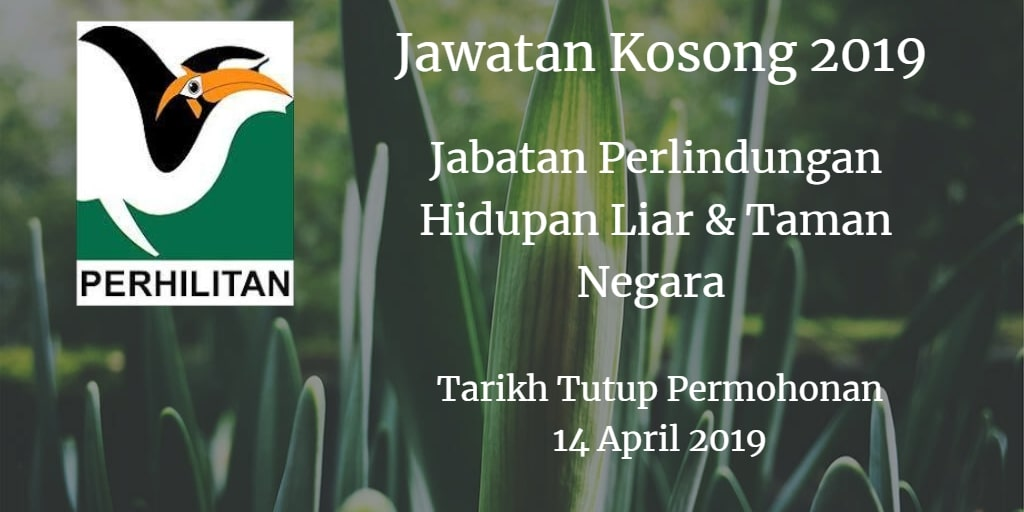 Jawatan Kosong PERHILITAN 14 April 2019