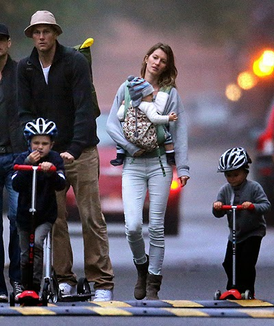 Tom Brady, Gisele Bundchen, and their children are fully
