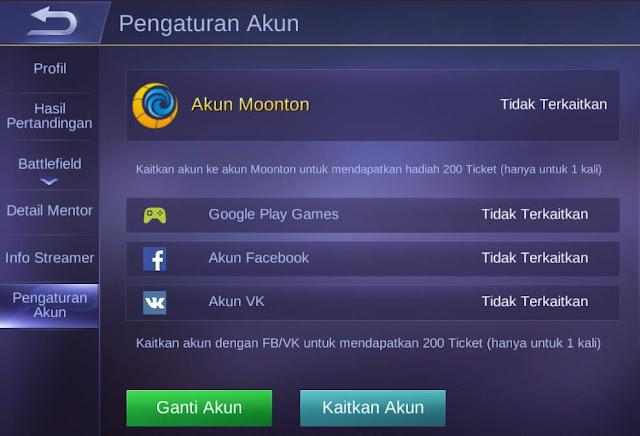 cara membuat akun moonton lewat web