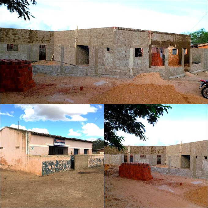 Araruna: Obras de ampliação e reforma da escola Fazenda Nova seguem em ritmo acelerado