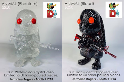 Designer Con 2019 Exclusive Animal Resin Figure Blood & Phantom Editions by Jermaine Rogers