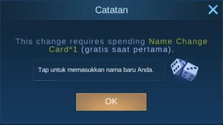 Cara Ganti Nama Akun Mobile Legends Tanpa Kartu Nama dan Diamond