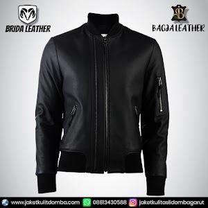 Jual Jaket Kulit Asli Garut Pria Domba Original Brida Leather B38 Bomber   WA 08813430588