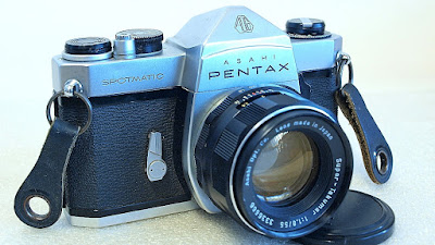 Asahi Pentax Spotmatic SP (Chrome) Body #457, Takumar 55mm 1:1.8 #666