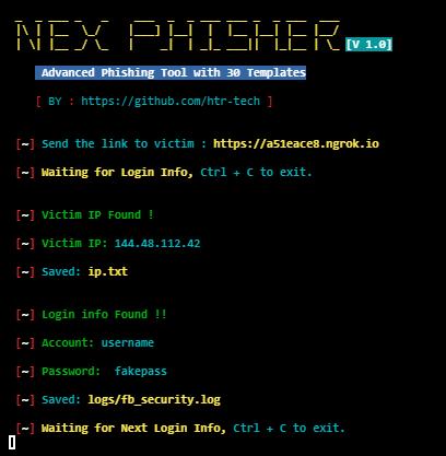 أداة لأختراق الحسابات Nex Phisher V1.0 على Termux