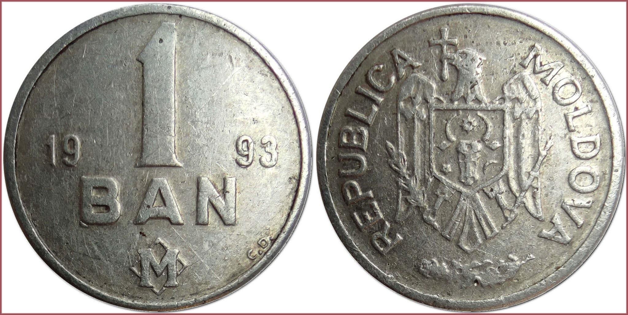 1 ban, 1993: Republic of Moldova