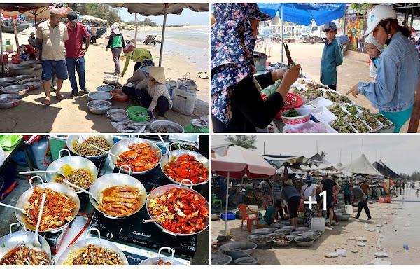 Chợ hải sản cũ Hồ Tràm, nơi đây đang được quy hoạch thành quảng trường chợ đêm Hồ Tràm