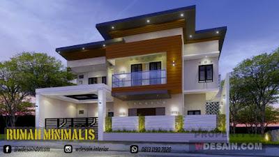 Desain Rumah Ukuran Tanah 15x20m 2 Lantai Model Minimalis Modern Desain Rumah Minimalis