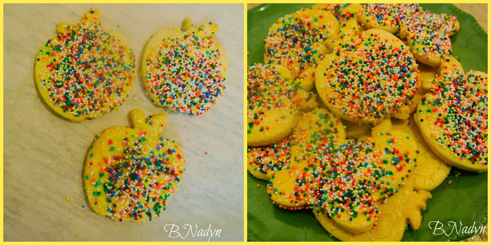 apple cookies, sugar cookies, back to school