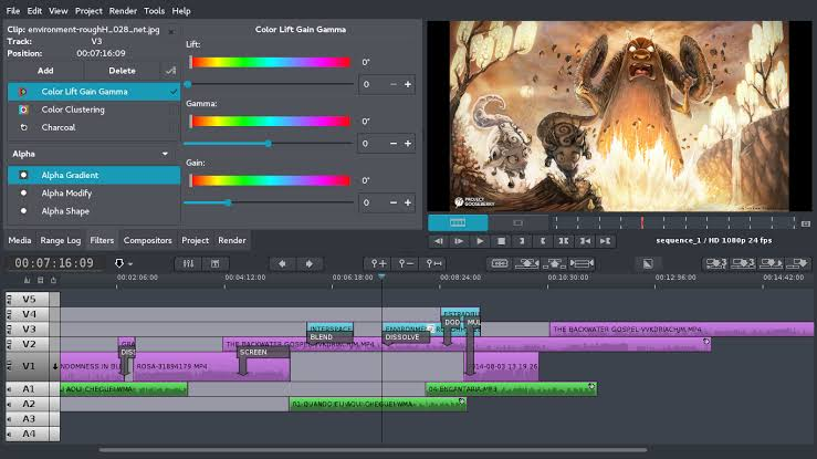Flowblade Video Editing