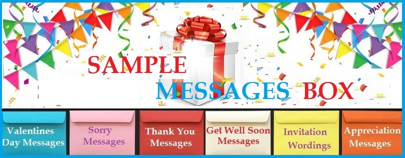 Sample Messages Wordings