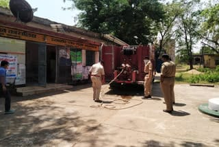 cisf-senetize-rural-area-jamshedpur
