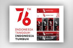 Download Logo HUT Ke-76 RI template spanduk & umbul-umbul