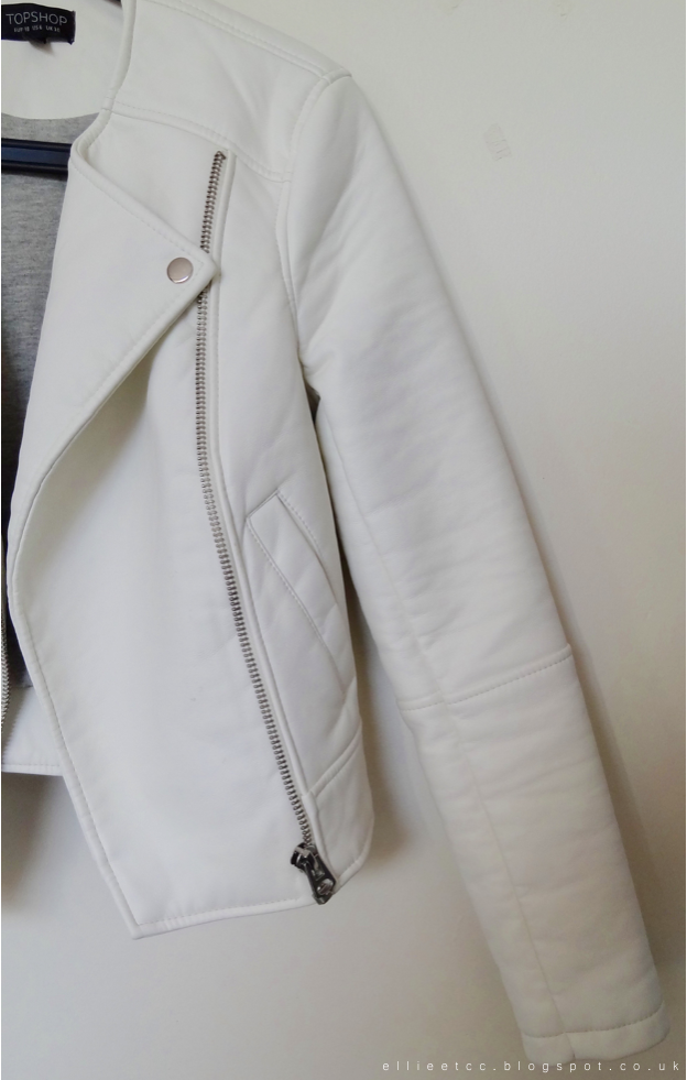 New In, haul, topshop, jacket, white, leather, collarless