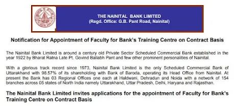 Nainital Bank Recruitment 2021: Apply For Faculty Posts in Nainital Bank