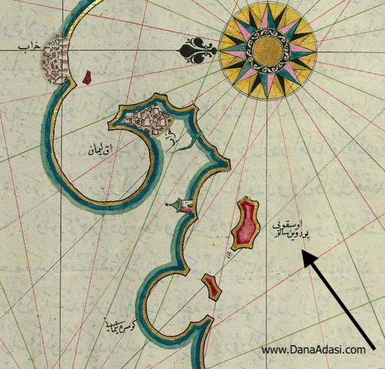 Kitab-ı Bahriye'de Dana Adası