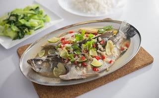 Tips kurus bulan puasa ikan masak stim asam boi