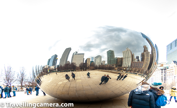 More than all above details, Millenium Park is the place where you get to see the famous Cloud Gate or The Chicago Bean. Even if you don't think of visiting Millenium park during your visit to Chicago visit, I am sure Cloud Gate would be one of the priority in best places to visit in Chicago city of Illinois State of USA.