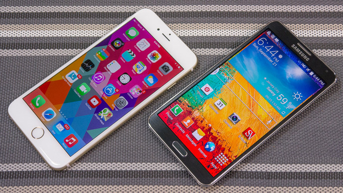 Apple iPhone 6 Plus vs. Samsung Galaxy Note 3 - Video Comparison