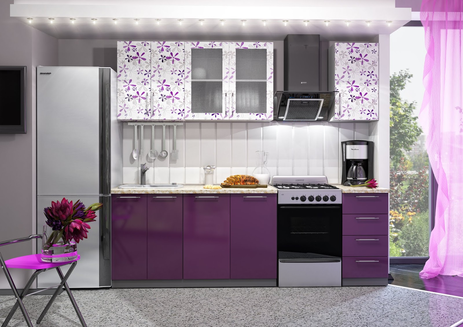 +50 Modern Purple Kitchen cabinets designs catalog 2019