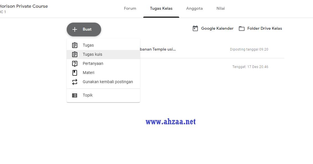 Tutorial Google Classroom Cara Mudah Membuat Tugas Kuis Untuk Siswa Ahzaa Net